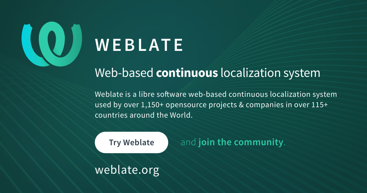 Weblate - web-based localization